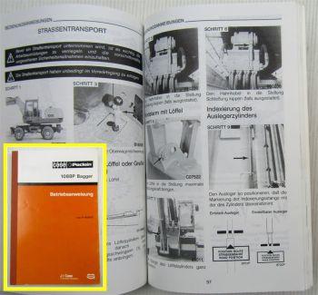 Case Poclain 1088 P2A P2AL  Bagger Betriebsanleitung Bedienung Wartung 1989