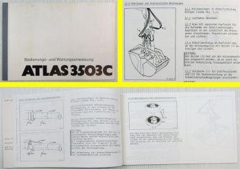 Atlas 3503C Kran Betriebsanleitung Wartungshandbuch