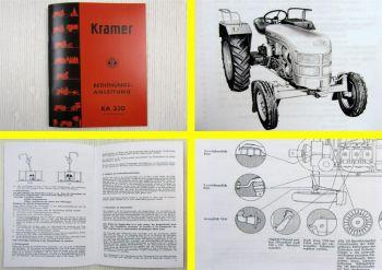 Kramer KA330 Schlepper Betriebsanleitung Bedienungsanleitung