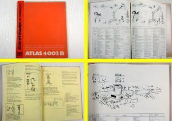 Atlas 4002B Betriebsanleitung Ersatzteilliste Spare parts list Operating Manual