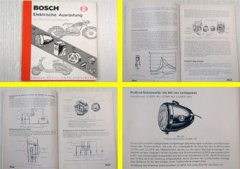 Bosch Elektrische Ausrüstung für Motorräder und Motorroller Ausgabe 10/1952