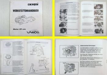 Werkstatthandbuch Derbi Vamos Mokick Mofa 49 ccm Motor Reparaturanleitung 1993