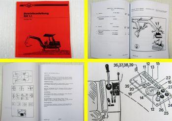 O&K RH 1.1 Hydraulikbagger Betriebsanleitung Bedienungsanleitung