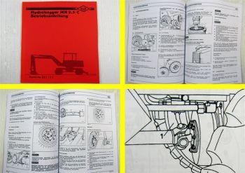 O&K MH 2.5 C Hydrobagger Betriebsanleitung Bedienungsanleitung