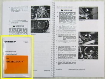 Daewoo Solar 225LC-V Bagger Betriebsanleitung Bedienung Wartung Stand 2002