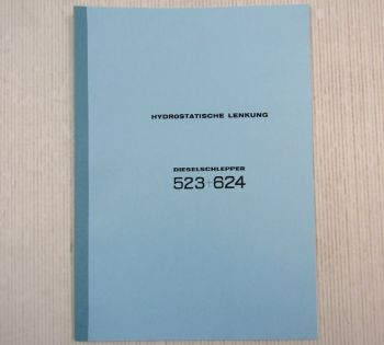 IHC 523 + 624 Werkstatthandbuch hydr. Lenkung 1969