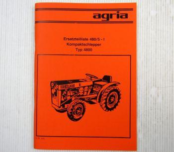 Agria 4800 Kompaktschlepper Ersatzteilliste 1979