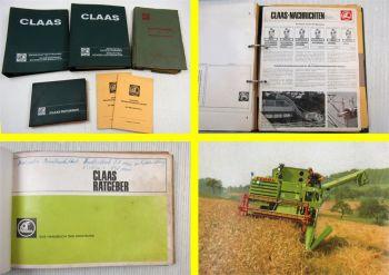 Claas Mähdrescher Ersatzteilrundschreiben + Ratgeber + Technische Daten 60er