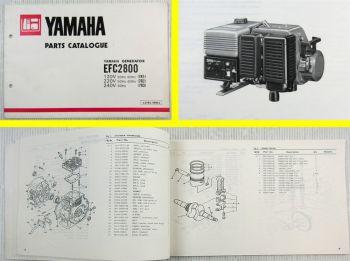 Yamaha EFC 2800 7R1 7R2 7R3 Generator Parts Catalogue 1981