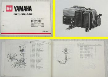 Yamaha EFC 2000 7N7 7N8 7N9 Generator Parts Catalogue 1981