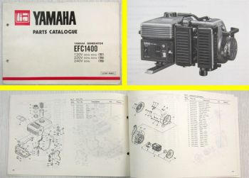 Yamaha EFC 1400 7R7 7R8 7R9 Generator Parts Catalogue 1981