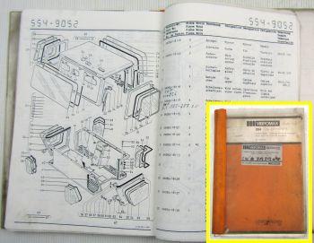 Vibromax 554 Tandemwalze Ersatzteilkatalog Ersatzteilliste Parts List 1984