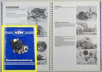 Werkstatthandbuch KTM Motor 51 52 54 55 Reparaturanleitung 125 - 400 ccm 1976