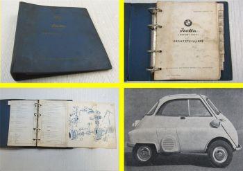 BMW Isetta Export Dreirad Isetta Cabriolett Tropen USA Ersatzteilliste1957