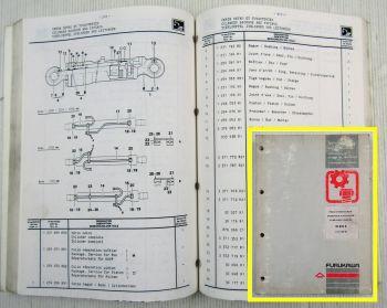 Furukawa W635E Hydraulikbagger Ersatzteilliste Ersatzteilkatalog 10/1989