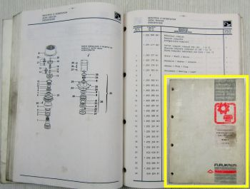 Furukawa W625E Hydraulikbagger Ersatzteilliste Ersatzteilkatalog 1990/91