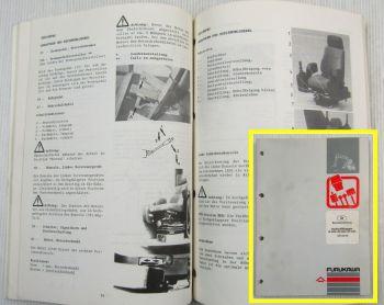Furukawa Hydraulikbagger W625E W630E W635E Bedienungsanleitung 11/1991