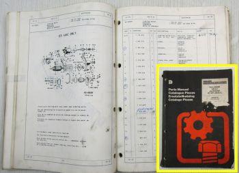 Dresser 540 A II and Engine DT7DTi-466B/C Parts List Ersatzteilkatalog 05/1986