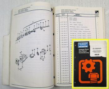 Furukawa 640E Hydraulic Excavator Parts List Ersatzteilkatalog 02/1990