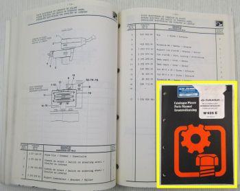Furukawa W625E Hydraulic Excavator Parts List Ersatzteilkatalog 03/1990