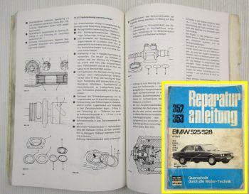 BMW 525 528 6-Zylinder Reparaturanleitung Werkstatthandbuch ab 08/1973