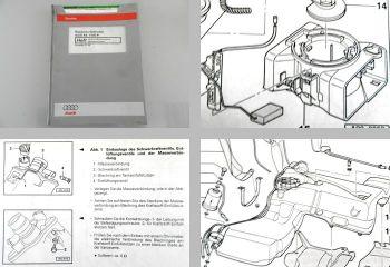 Audi A4 B5 Typ 8D Werkstatthandbuch Kraftstoffversorgung Benzin Motor 1998
