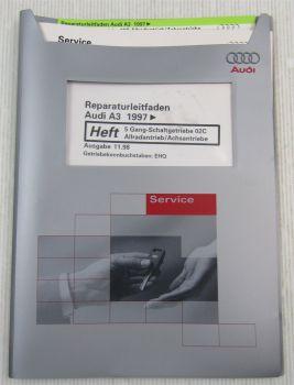 Audi A3 8L 5 Gang-Schaltgetriebe 02C Allrad Achsantriebe Reparaturleitfaden EHQ