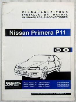 Nissan Primera P11 Einbauanleitung Klimaanlage Airconditioner Installation Manua