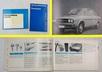 Audi 100 C1 100 GL LS 85 bis 112 PS Betriebsanleitung Bedienungsanleitung 1973