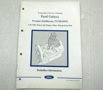 Ford Galaxy 1,9l TDI Motor + Pumpe Düse Einspritzsystem Schulungshandbuch 1999