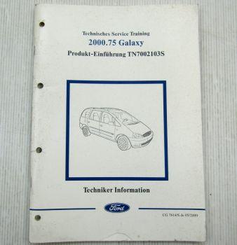 Ford Galaxy Schulungshandbuch Training Service Produkteinführung 05/2000