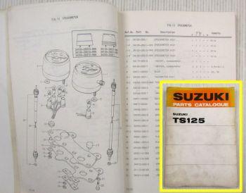 Suzuki TS125 R J K L M  Motorcycles E1 Spare Parts Catalogue List 1975