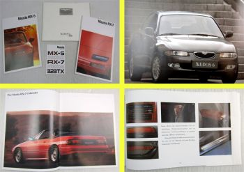 3 Prospekte Mazda MX-5 RX-7 Xedos 6 1990er Jahre + Preisliste 10/1990