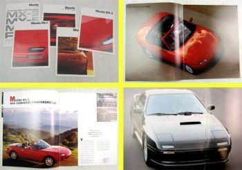 5 Prospekte Mazda MX-3 MX-5 MX-6 RX-7  Sportwagenprogramm von 1991