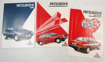 Prospekt Mitsubishi Colt 1985 + 2 x Zeitschrift Automobilprogramm 02 und 04 1984