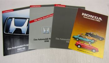 4 Prospekte Honda Accord Civic Prelude CRX Legend NSX Automobilprogramme