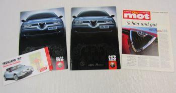 3 Prospekte Alfa Romeo 156 Zubehör Accessoires + Zeitschrift mot Sonderdruck 97