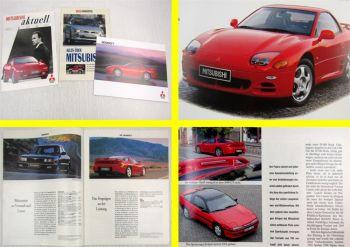 Prospekt Mitsubishi 3000GT 1994 + 2 Zeitschriften Mitsubishi aktuell u. mot 1993