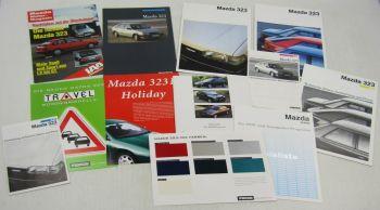 Prospekte und Zeitschriften Mazda 323 + LX GLX GT Technische Daten Preise Farben