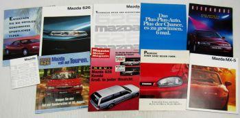 Prospekte Zeitschriften Preisliste Mazda 626 323 MX3 MX5 80er und 90er Jahre