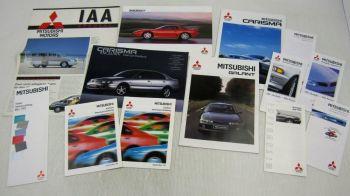 4 Prospekte Mitsubishi Galant Carisma 3000GT + IAA Spezial Preis- und Farblisten