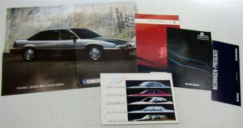 3 Prospekte General Motors Chrysler Jeep Pontiac Chevrolet Cadillac + Preisliste