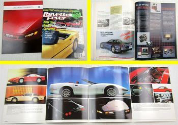 Car Magazine Corvette Fever 09/1989 + Prospekt GM Chevrolet Corvette wohl 90er