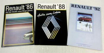 3 Prospekte Renault Alpine A610 Espace Clio Scenic 4 5 9 11 19 21 25 1986-1992