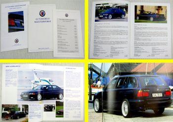 2 Prospekte BMW Alpina B3 B8 B10 B12 Coupe Cabrio touring + Preisliste 09/1995