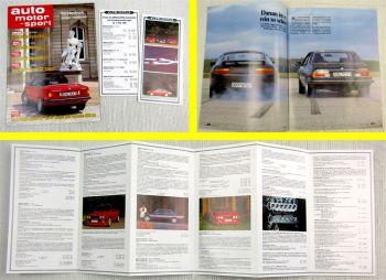 Sonderdruck auto motor u sport  BMW Alpina B10 C2 Cabrio B6 + Prospekt + Preise