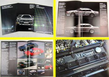 3 Prospekte 3er 5er BMW M Modelle Coupe Technik Technische Daten Ausgaben 1985