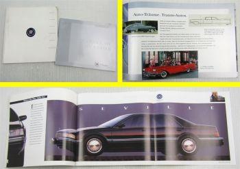 2 Prospekte Cadillac Seville Eldorado Allante Fleetwood Deville Brougham 91-02