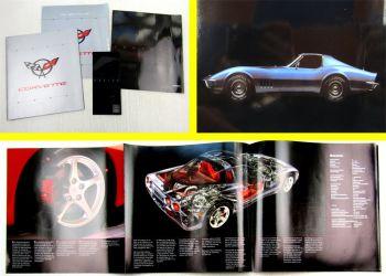 2 Prospekte Chevrolet Corvette Cabriolet + Preislisten Ausgaben 1995 - 2003