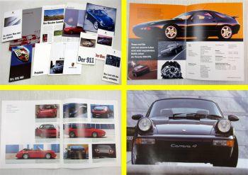 Prospekte und Preislisten Porsche 968 Cabriolet 911 928 Boxster + IAA 1989